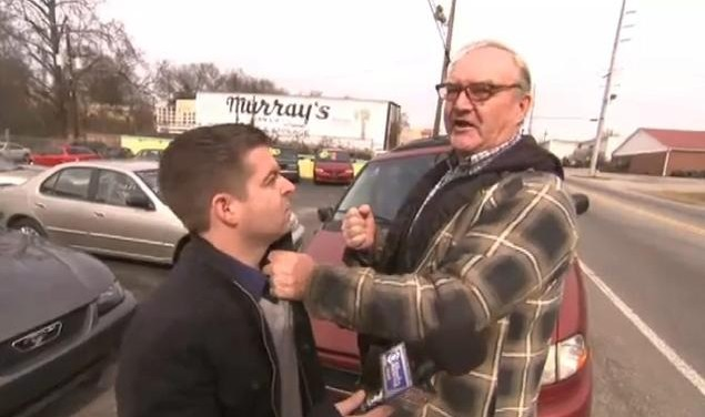 reporter punched by fraudster