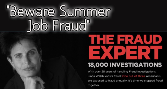 Summer job fraud – scamming Kids